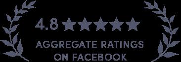 4.8 Ratings on Facebook